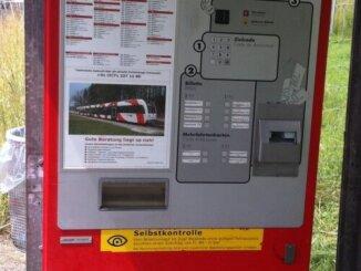 Billettautomat FW weberei Matzingen