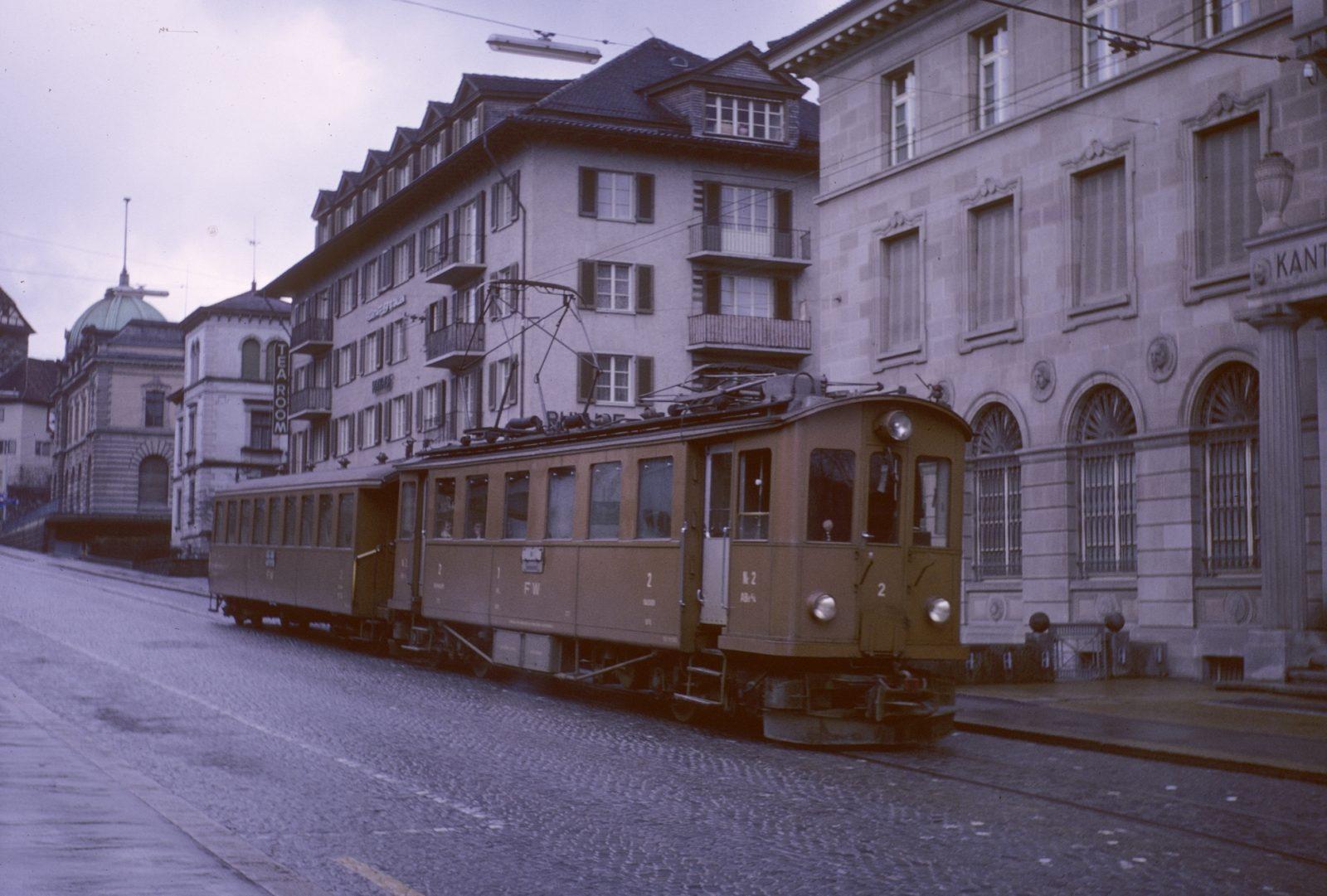 FW Triebwagen Nr. 2 auf der Rheinstrasse