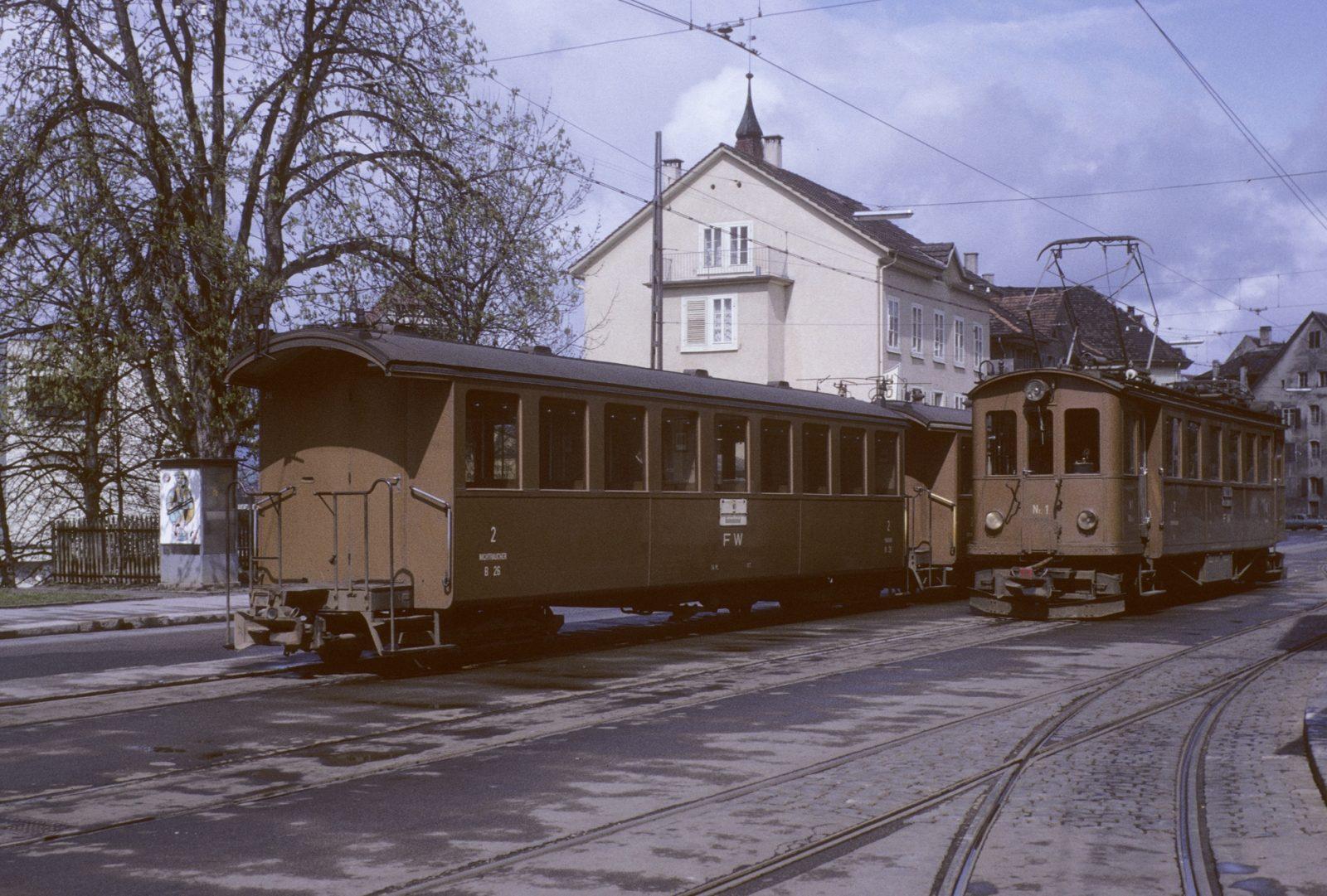 Bahnhofsaltag in Frauenfeld Stadt