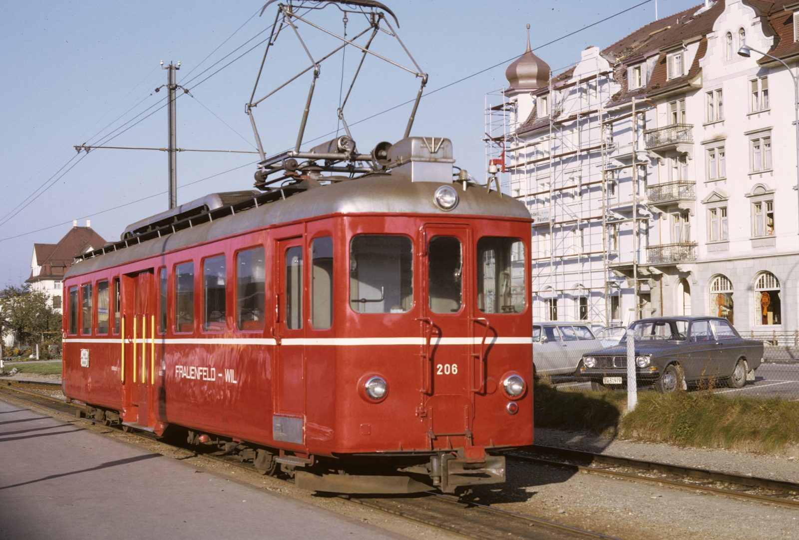 Wilerbahn in Wil Triebwagen