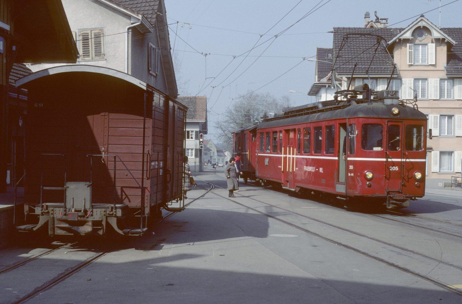 Frauenfeld Wil Bahn Triebwagen ex bd