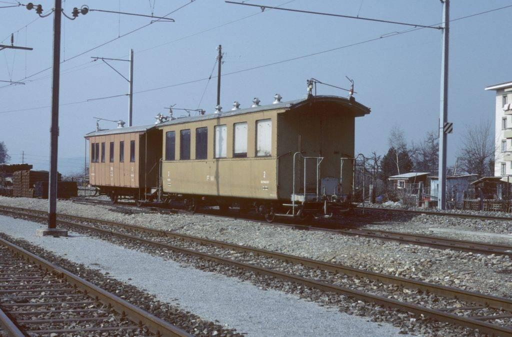 braune Reisezugwagen Frauenfeld Wil Bahn