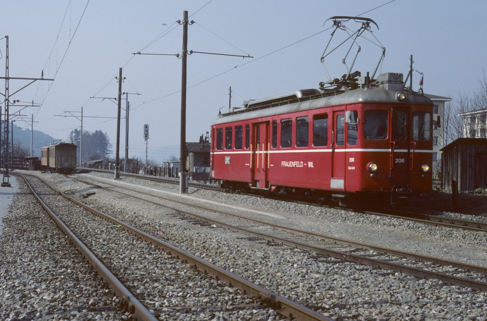 ex BD Triebwagen bei der Frauenfeld Wil Bahn