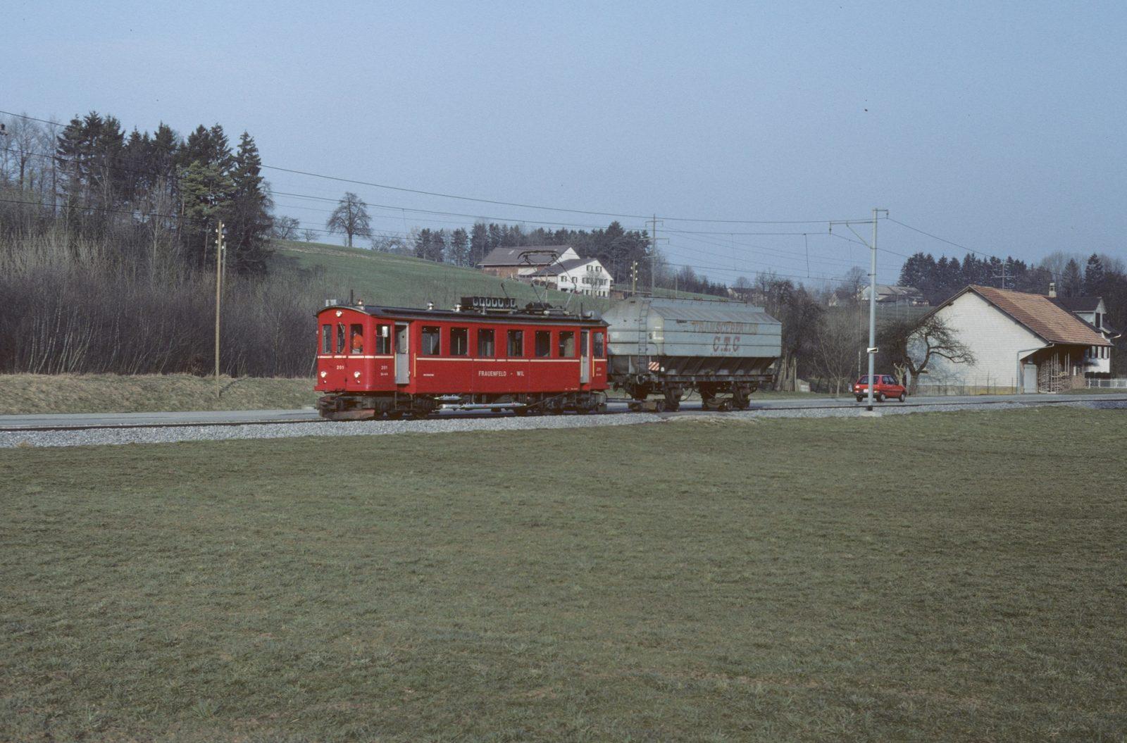Rollbock güterzug wilerbahn