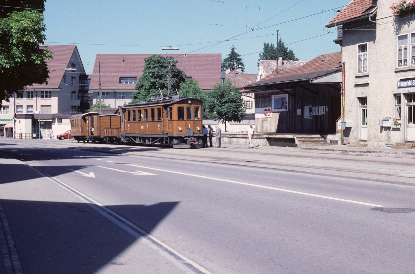 Nostalgiezug Güterschuppen Frauenfeld Stadt