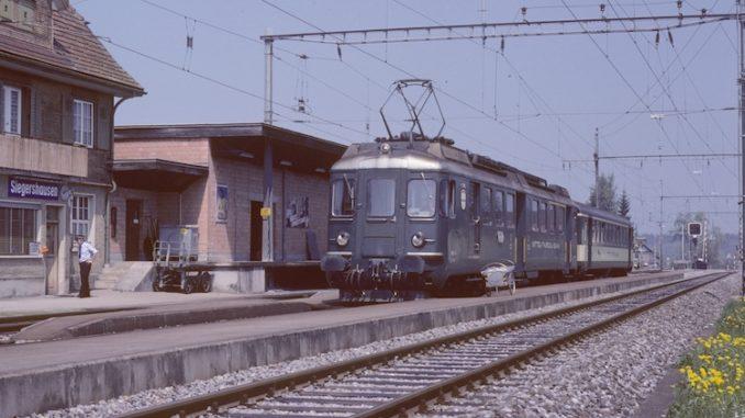 Triebwagen MThB Siegershausen