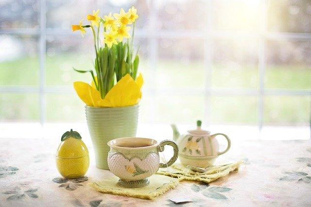Daffodils Tea Tea Time Cup Of Tea